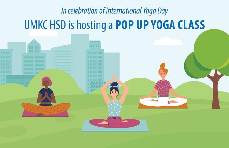 UMKC HSD Pop-up Yoga Class
