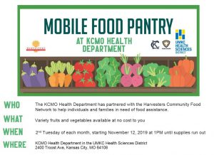 Mobile Food Pantry (FREE) @ KCMO Health Department