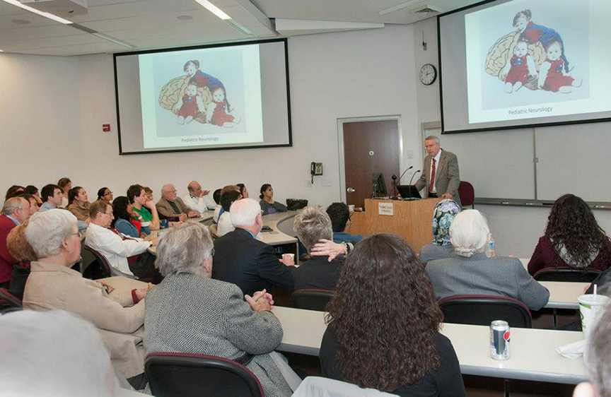Paul Larsen, M.D., head of pediatric neurology and professor of pediatrics and neurological sciences at the University of Nebraska Medical Center, delivered the 2013 William T. Sirridge, M.D., Medical Humanities Lecture on March 7 at the School of Medicine.
