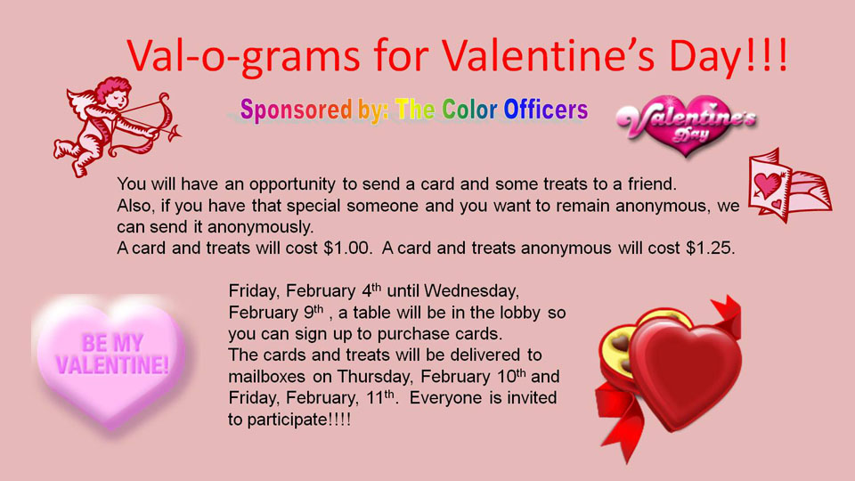 Student Affairs – Anonymous Valentine Card