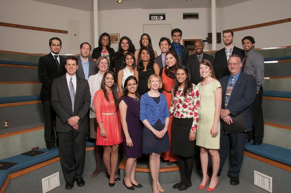 The School of Medicine Gold Humanism Honor Society welcomed 21 new members during a ceremony on March 23 at Diastole.