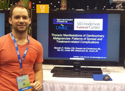 UMKC resident, Justin Stowell presents an exhibit at the Radiol Soc of N Am (RSNA) in Chicago