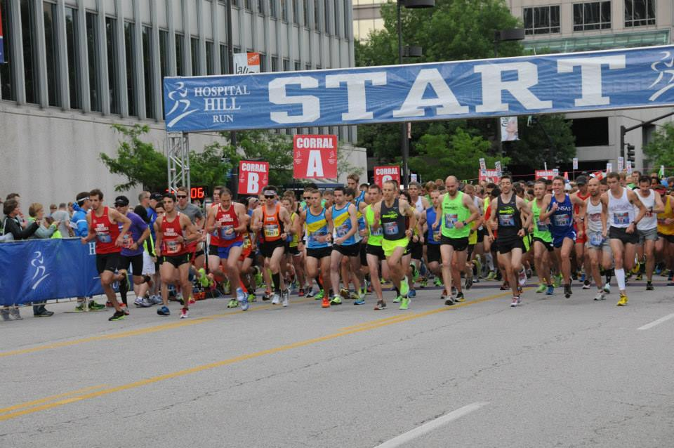 A record number of more than 7,500 runners participated in the 40th annual Hospital Hill Run in Kansas City on Saturday, June, 1, including more than 1,600 runners in the UMKC School of Medicine 5K event.