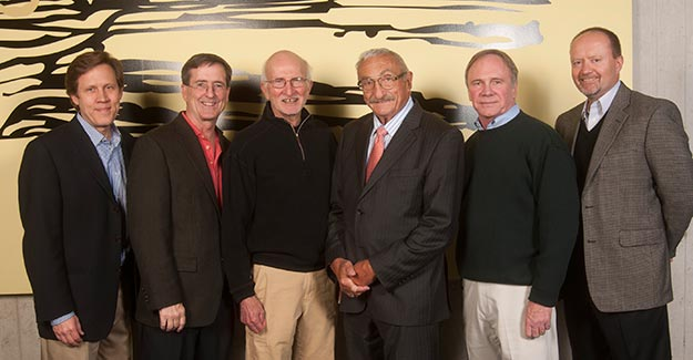 Mark Steele, M.D., Matt Gratton, M.D., W. Kendall McNabney, M.D., Peter Rosen, M.D., William Robinson, M.D., Robert Schwab, M.D.