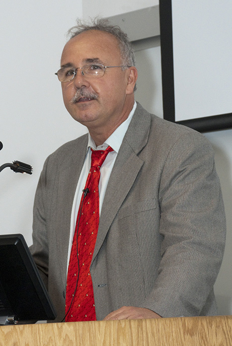 Timothy Buie, M.D., '84, spoke at the School of Medicine on Oct. 4 as part of the UMKC Founders' Week celebration.