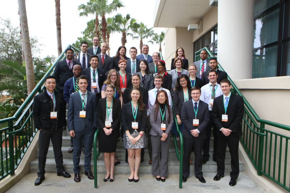 Kevin Xiao, MS 4, (third row, far left) took part in the Society of Thoracic Surgeons 50th annual national meeting in January after receiving the society's 2014 Looking Forward to the Future Scholarship.
