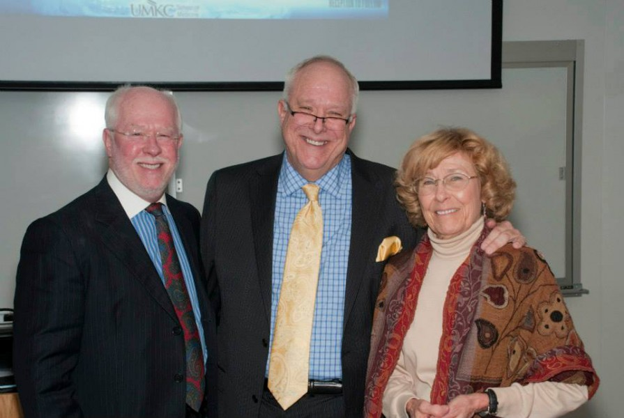 (From Left) Siblings Stephen Sirridge, Ph.D., Christopher Sirridge, M.D., '78, and Mary Sirridge, Ph.D.