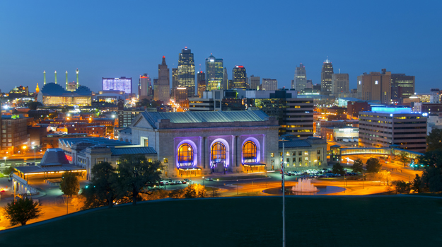 Kansas City Skyline at night