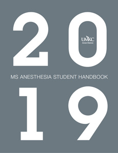 MS ANESTHESIA STUDENT HANDBOOK