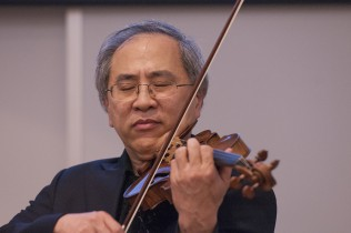 Lynn Chang, Wong's husband and a professor at the Boston Conservatory and world-renowned violinist, performs Jasmine Flower, which he played during the 2010 Nobel Peace Prize Ceremony honoring Liu Xiaobo.