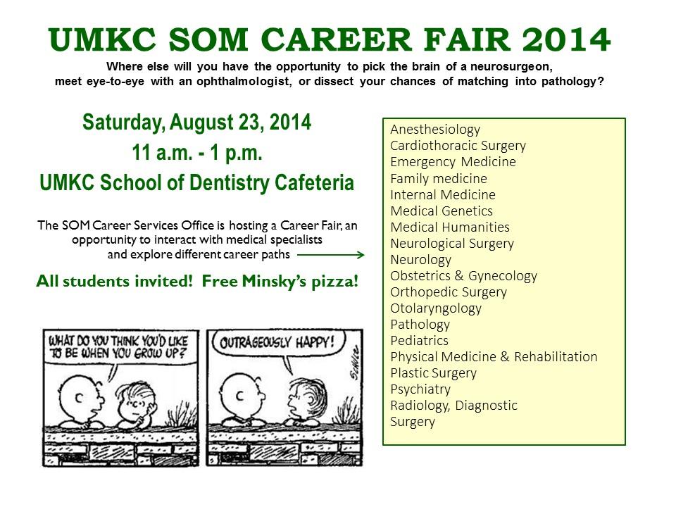 Career Fair flyer 2014