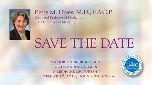 Dean Betty Drees, M.D., F.A.C.P.