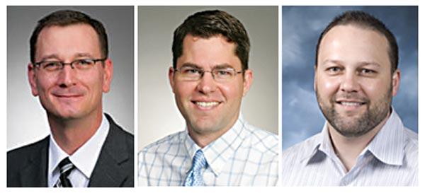 L to R: Doug C. Rivard, D.O., Brent Reading, M.D., & Brent Culley