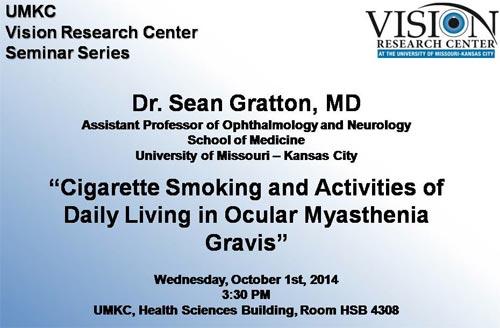 UMKC Vision Research Center Seminar Series @ UMKC Health Sciences Bldg., Rm HSB 4308 | Kansas City | Missouri | United States