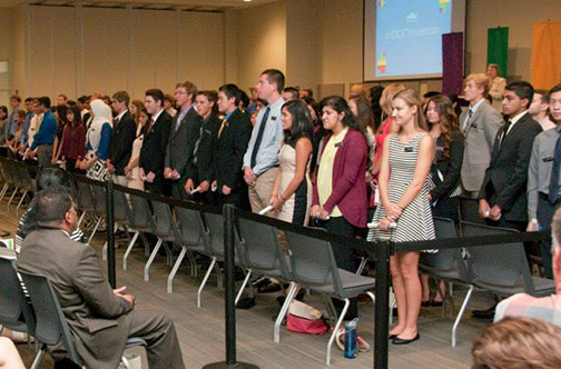 Members of the UMKC School of Medicine Class of 2020 were introduced during the annual InDOCtrination Ceremony at the UMKC Student Union on Aug. 22.