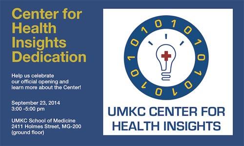 Center for Health Insights Dedication @ UMKC School of Medicine: MG-200 (ground floor) | Kansas City | Missouri | United States