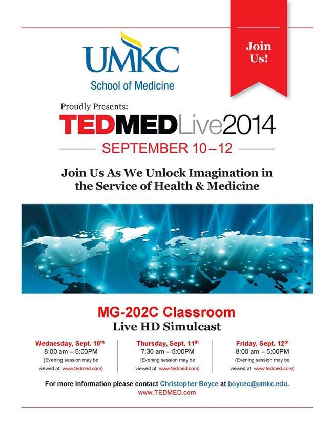 TEDMED Live 2014 Live HD Simulcast @ MG-202C Classroom | Kansas City | Missouri | United States
