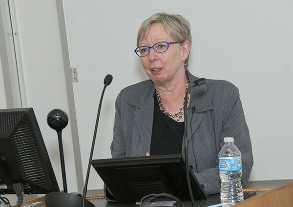 Lynnette Nieman, M.D., senior investigator in the program in reproductive and adult endocrinology at the National Institutes of Health, gave the 2014 Dodge Lecture at the School of Medicine on Nov. 13.