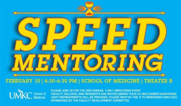 Speed Mentoring @ UMKC School of Medicine, Theater B | Kansas City | Missouri | United States