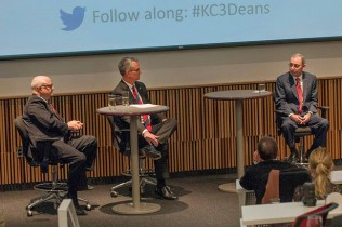 Bruce D. Dubin, Robert D. Simari and Steven L. Kanter (from left to right) met at Kansas City University of Medicine and Biosciences on Feb. 11.