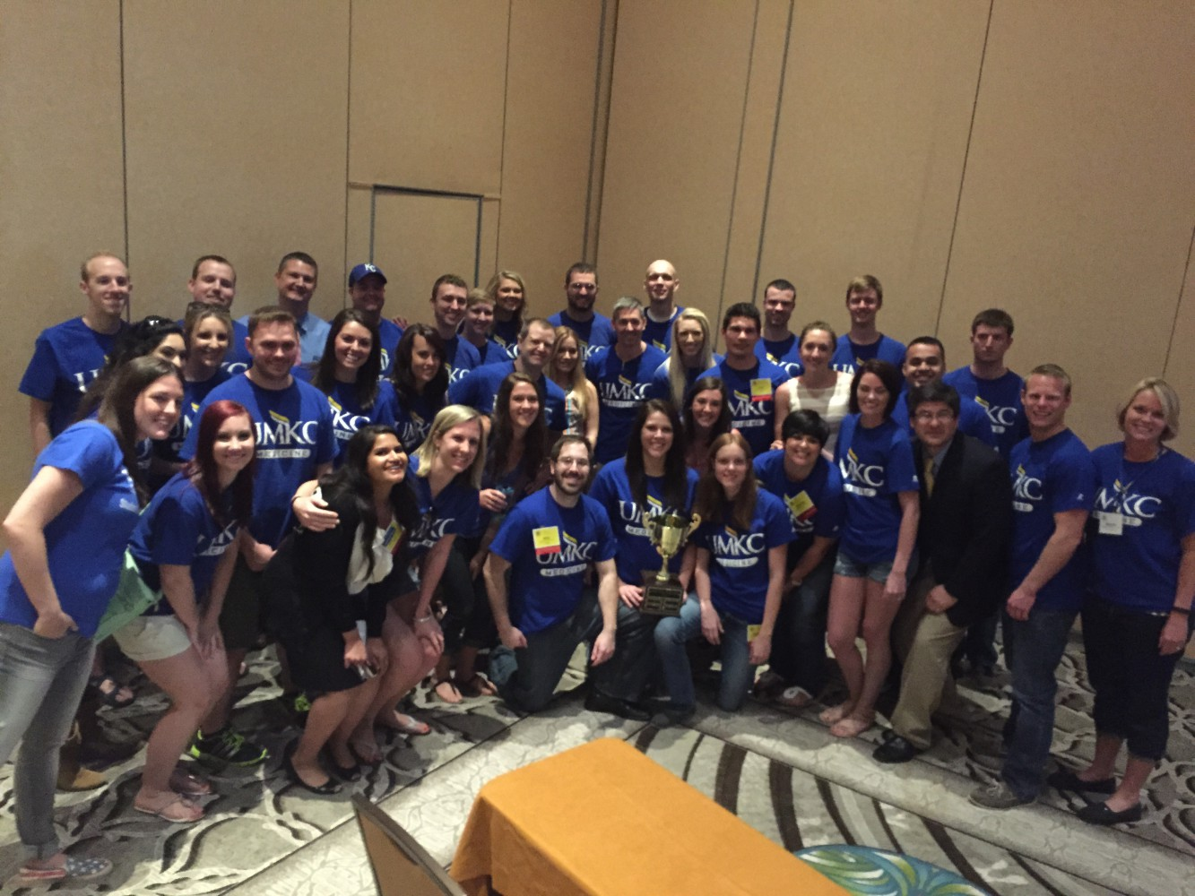 Students from the School of Medicine's Master of Science in Anethesia program gathered for a group photo at the 2015 American Academy of Anesthesiologist Assistants conference in Orlando, Florida.