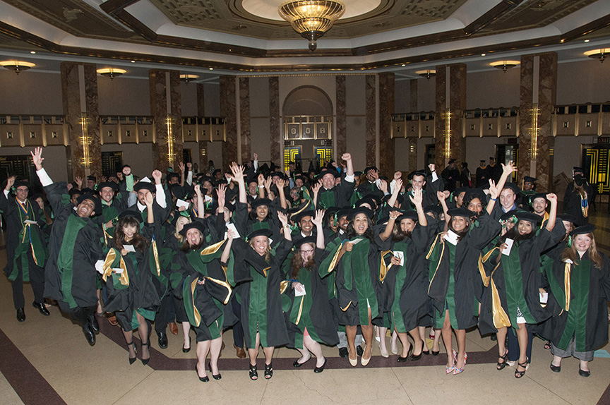 The School of Medicine Class of 2015 celebrates its upcoming graduation on May 20 and the Kansas City Music Hall.