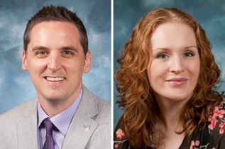 Raymond Cattaneo, M.D., and Cassie Shaffer Johnson, education team coordinator, were recognized with the UMKC Pride Award.