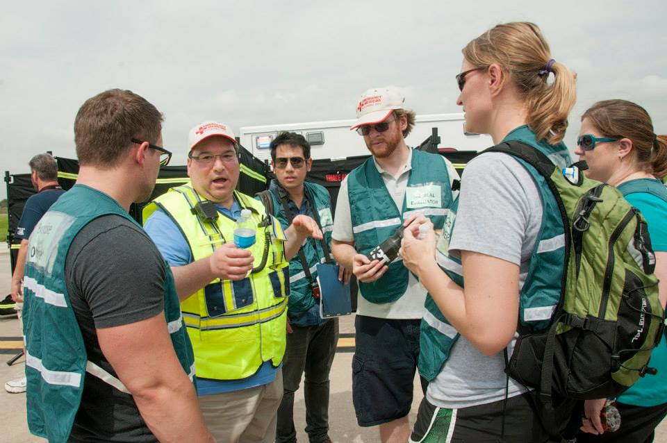Residents from the School of Medicine's emergency medicine program observed an emergency drill at Kansas City International Airport on June 18 and served as evaluators for emergency crews responding to a mock airplace crash.