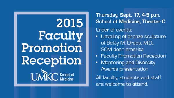 2015 Faculty Promotion Reception @ UMKC School of Medicine - Theater C | Kansas City | Missouri | United States