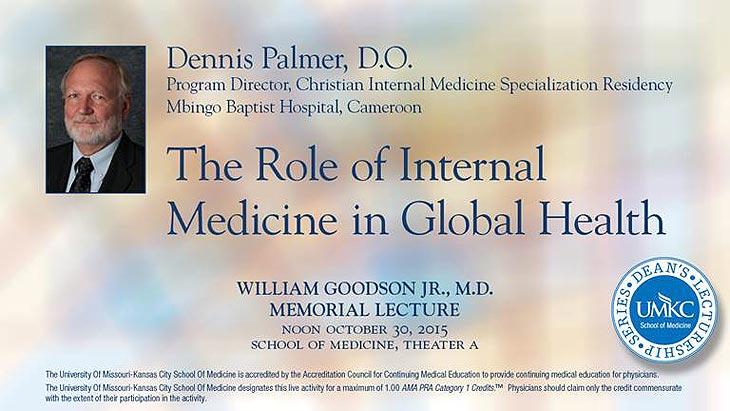2015 William Goodson Lecture @ UMKC School of Medicine, Theater A | Kansas City | Missouri | United States