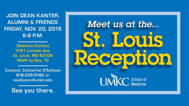 Alumni & Friends Reception with Dean Steven Kanter, M.D. @ Diablitos Cantina | Saint Louis | Missouri | United States