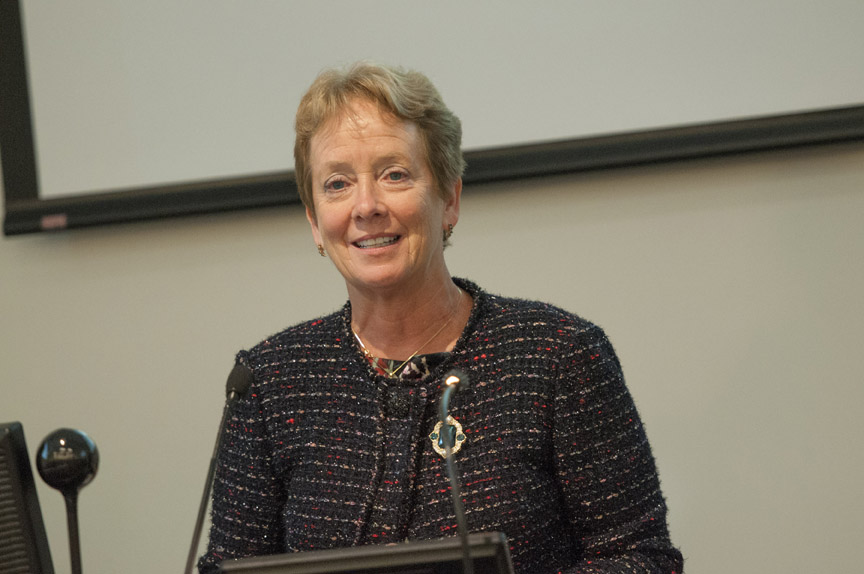 Julie Freischlag, M.D., dean of the school of medicine and vice chancellor for human health sciences at the University of California-Davis, presented the 2015 Marjorie S. Sirridge, M.D., Outstanding Women in Medicine lecture on Sept. 10.