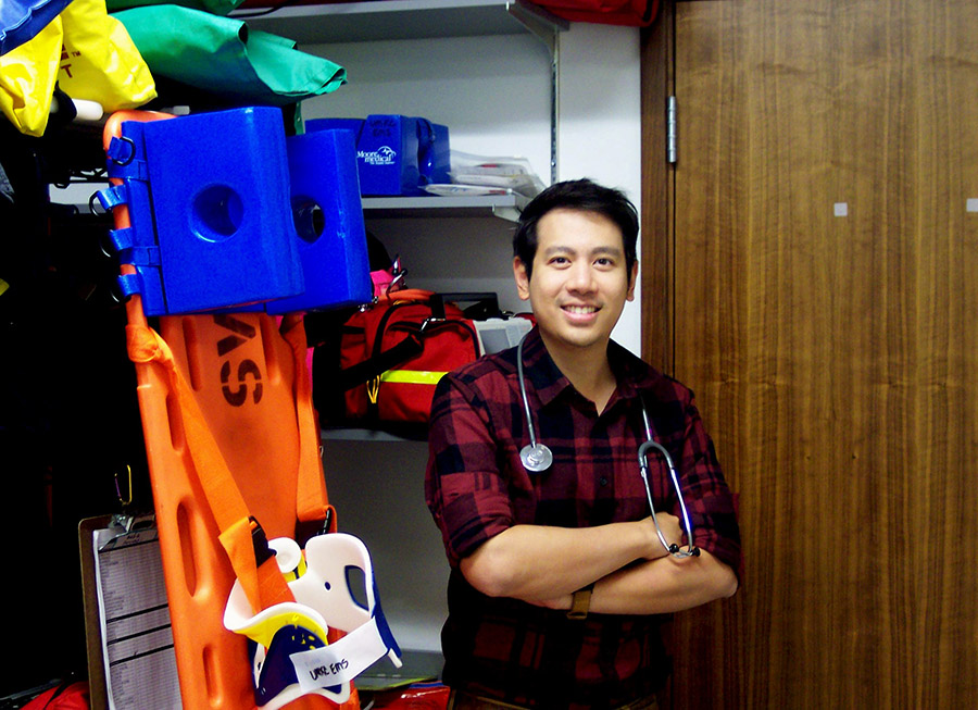 Chirakit Hengrasmee, M.D., an emergency medicine physician from Thailand, spent the past two years training in the School of Medicine's paramedic program.