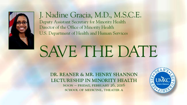 Dr. Reaner & Mr. Henry Shannon Lectureship in Minority Health @ UMKC School of Medicine, Theater A | Kansas City | Missouri | United States