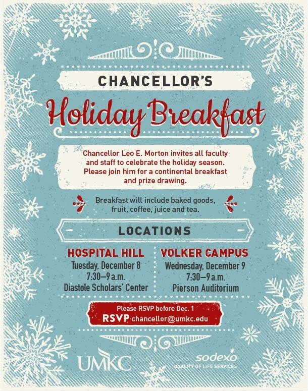 Chancellor's Holiday Breakfast @ Diastole Scholars' Center | Kansas City | Missouri | United States