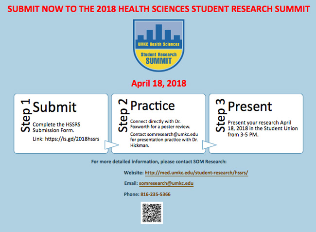 Health Sciences Student Research Summit 2018 @ UMKC Volker Campus - Student Union | Kansas City | Missouri | United States