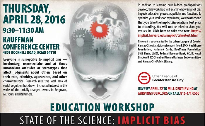 Faculty Education Workshop - State of the Science: Implicit Bias @ Kauffman Conference Center | Kansas City | Missouri | United States