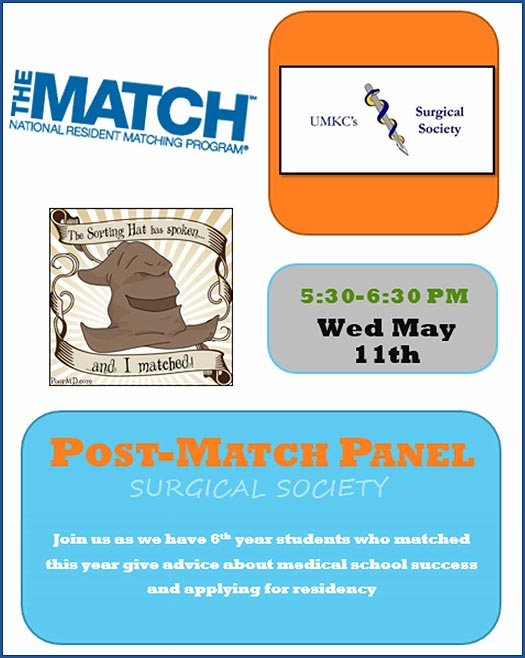 UMKC Surgical Society - Post-Match Panel @ UMKC SOM - Theater B