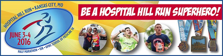Hospital Hill Run - UMKC SOM 5K 6/3, Half Marathon and 10K 6/4 @ Start point - Crown Center | Kansas City | Missouri | United States