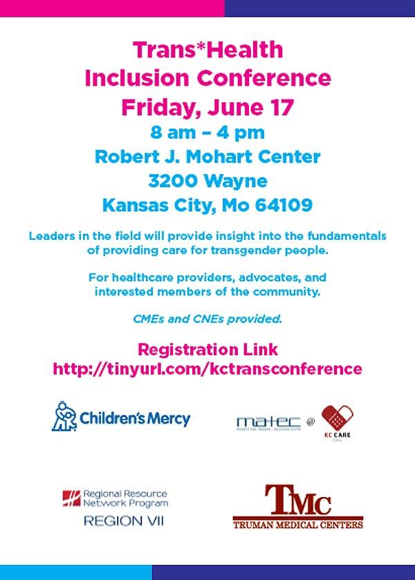 Trans* Health Inclusion Conference: Transgender Health 101 @ Robert J. Mohart Center | Kansas City | Missouri | United States
