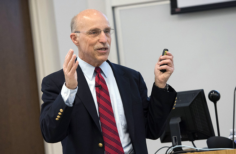 Physician and former NASA astronaut James Bagian, M.D., P.E., spoke during ViJay Babu Rayudu Quality Patient Safety Day at the School of Medicine.