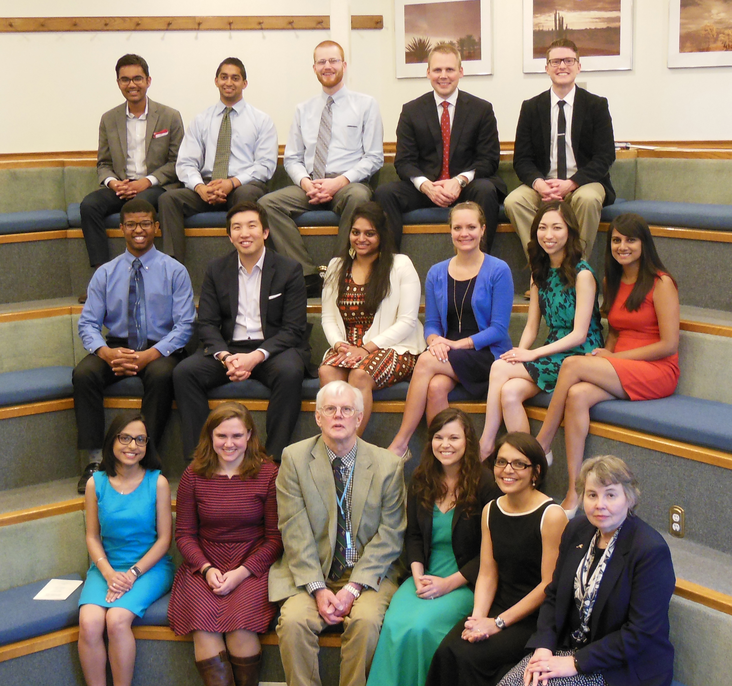 The School of Medicine chapter of the AOA Honor Medical Society inducted its Class of 2016 during a ceremony at Diastole.
