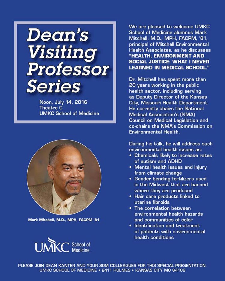Dean's Visiting Professor Series: Dr. Mark Mitchell @ UMKC School of Medicine, Theater C | Kansas City | Missouri | United States