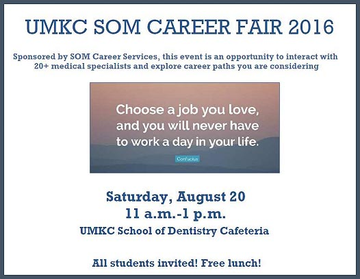 UMKC SOM Career Fair 2016 @ UMKC School of Dentistry Cafeteria | Kansas City | Missouri | United States