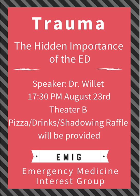 EMIG - Trauma: The Hidden Importance of the ED @ Theater B