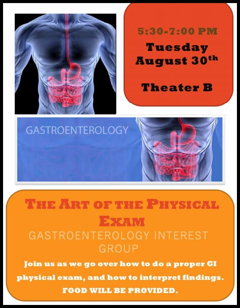 GIG - The Art of the Physical Exam @ Theater B