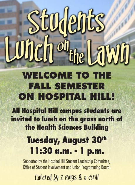 Students Lunch on the Lawn @ HSB - North lawn/green space