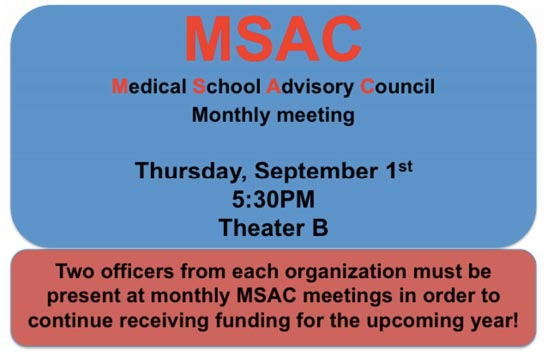 MSAC Monthly Meeting @ Theater B