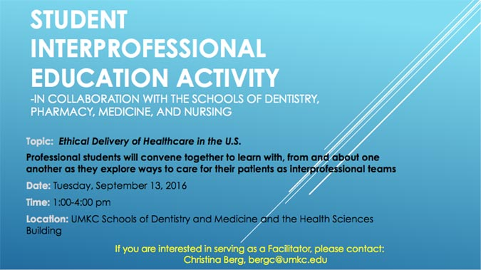 Health Professions: Interprofessional Education Activity Day @ Various locations - see below.
