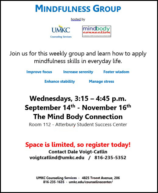 Mindfulness Group @ Atterbury Student Success Center - Rm. 112